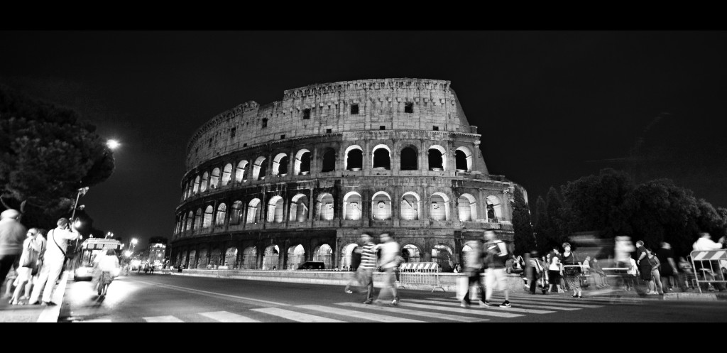 Black and White colosseum