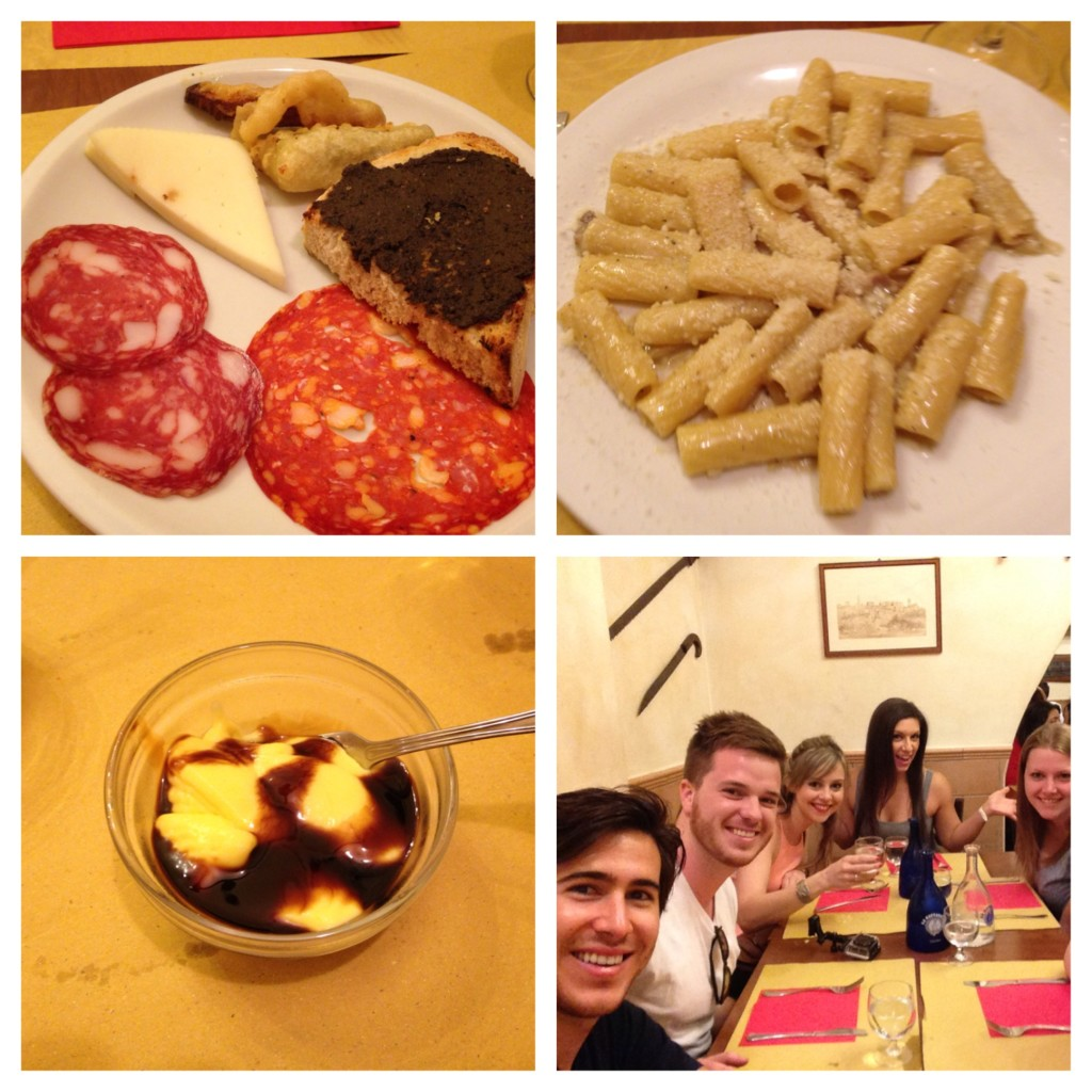 First dinner in Italy