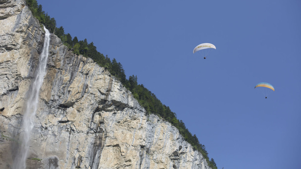 Adventures in Europe - image of paragliders in the Tyrol