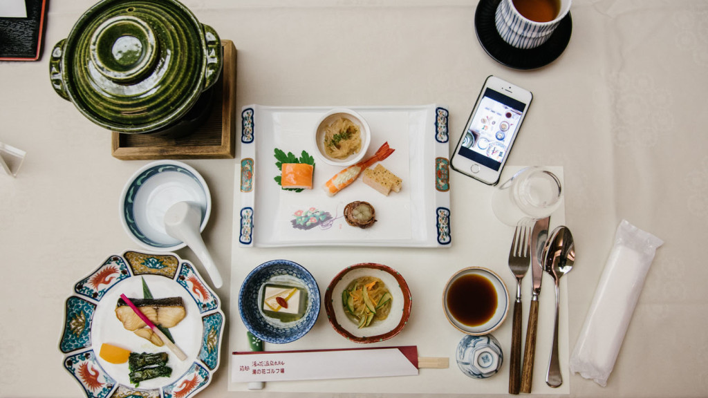 aerial shot of sushi on a plate