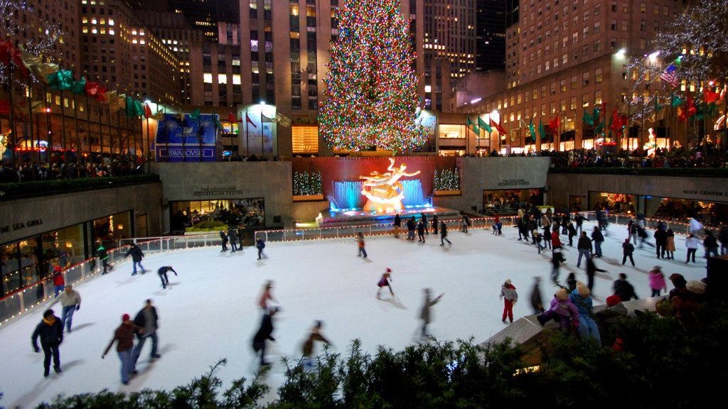 things to do in New York - image of ice skating at the Rockefeller Centre