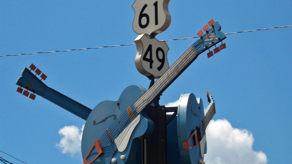 the USA's best road trips - image of the route 61 guitar sign