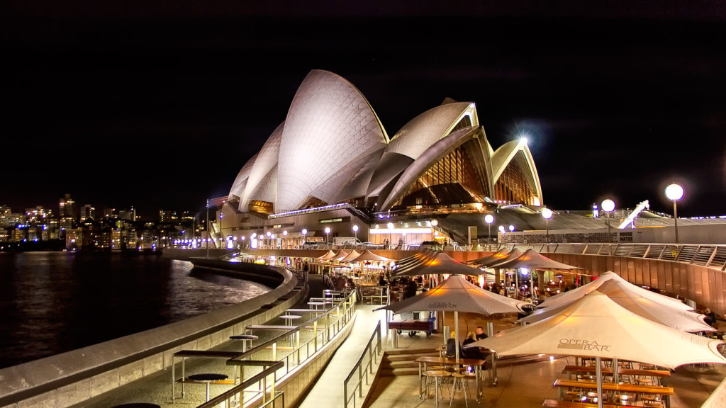 Things to do in Sydney - image of Opera Bar at night