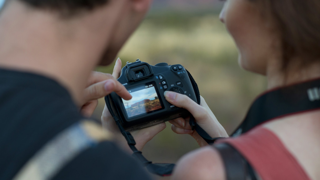 Travel photography tips for beginners - close up of camera settings