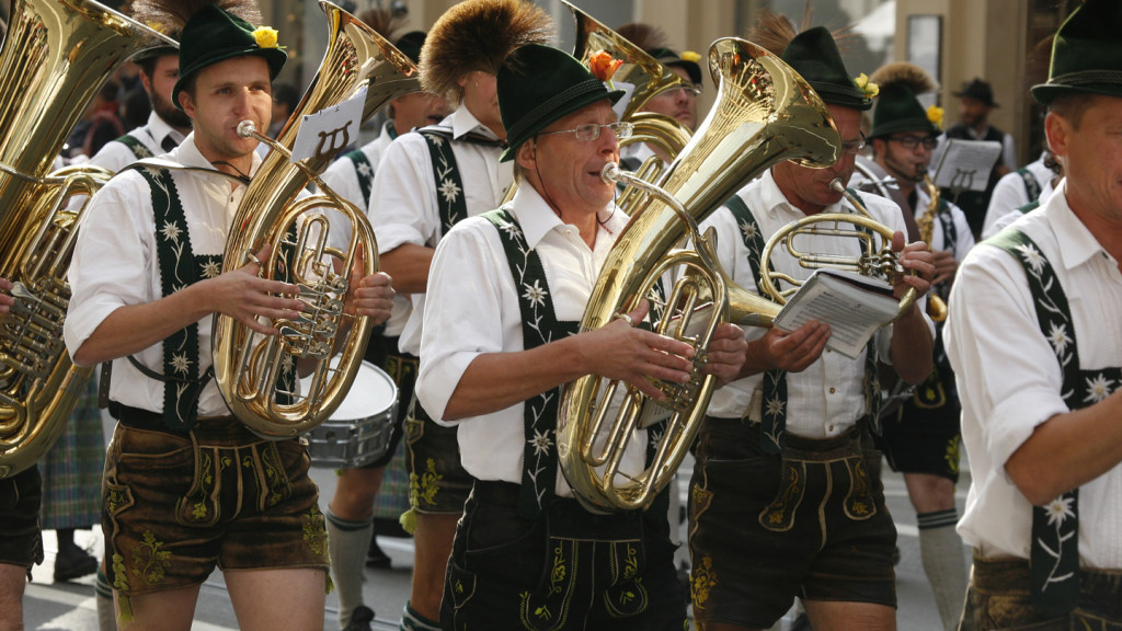 Image of musicians at Oktoberfest