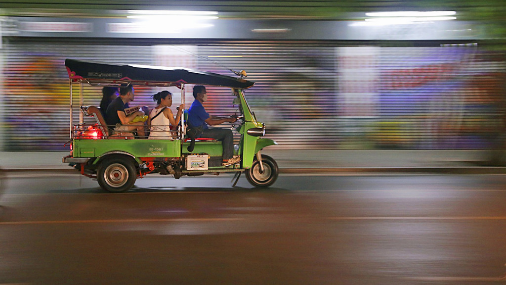 facts about Asia - tuk tuk driving through city