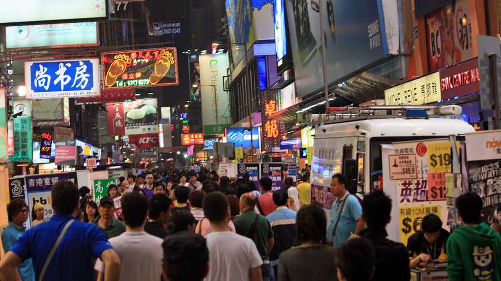 facts about Asia - busy street in China