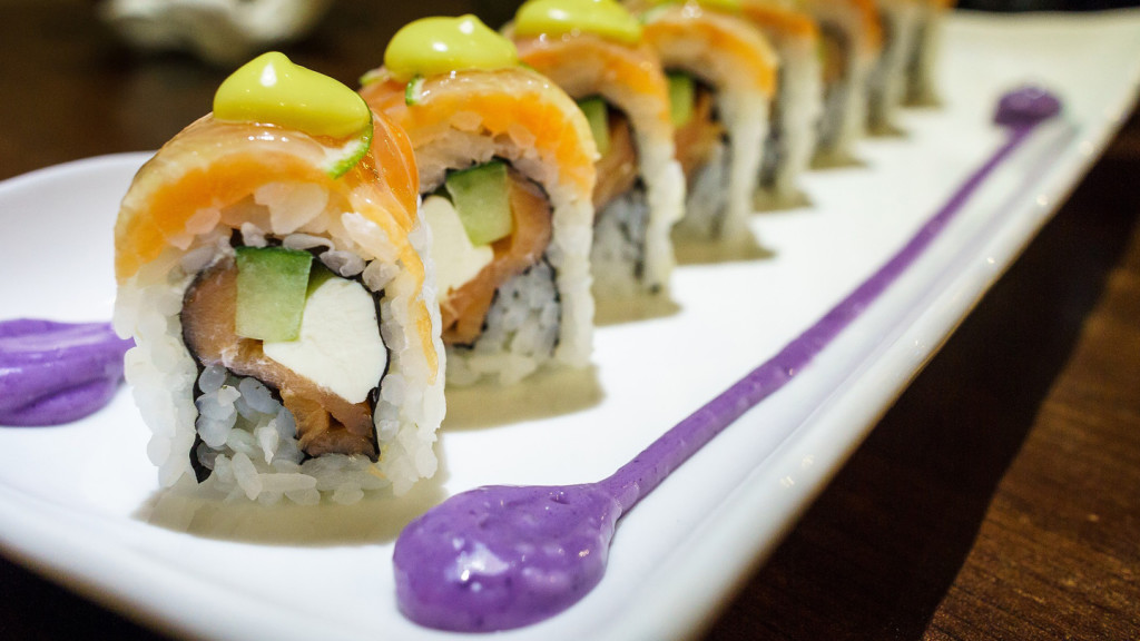 facts about Asia - sushi on a plate
