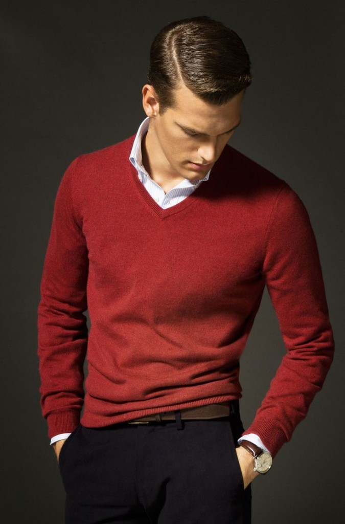 Men's red and black look