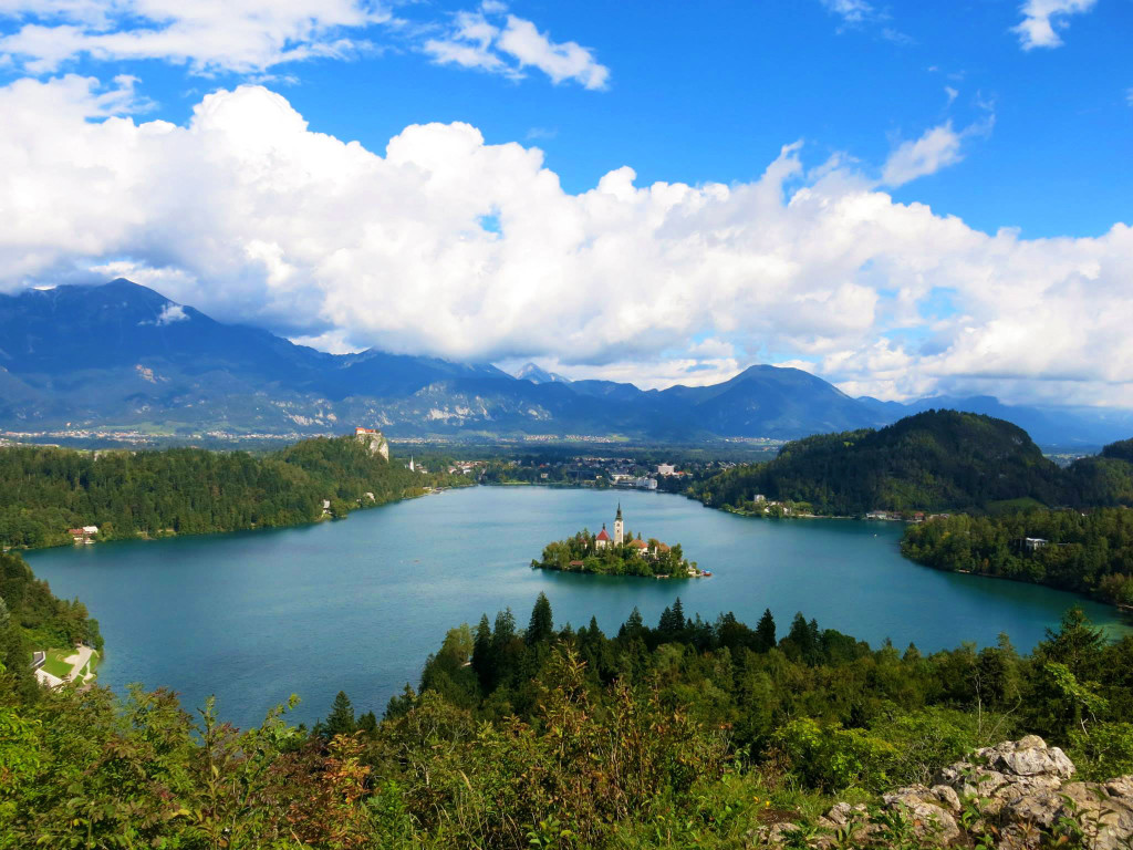 beautiful lakes in Europe - Image of Lake Bled