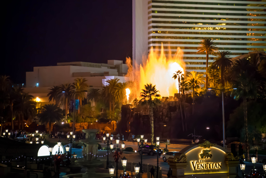 Volcano at the Mirage Hotel