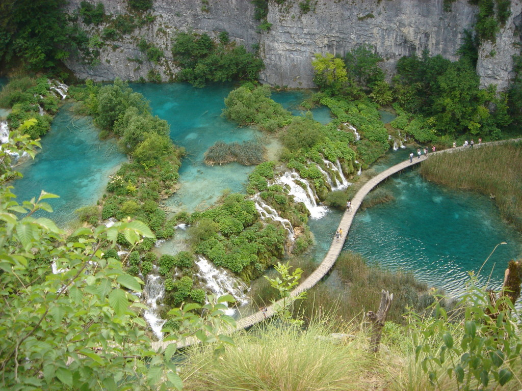 beautiful lakes in Europe - Image of Plitvice Lakes National Park