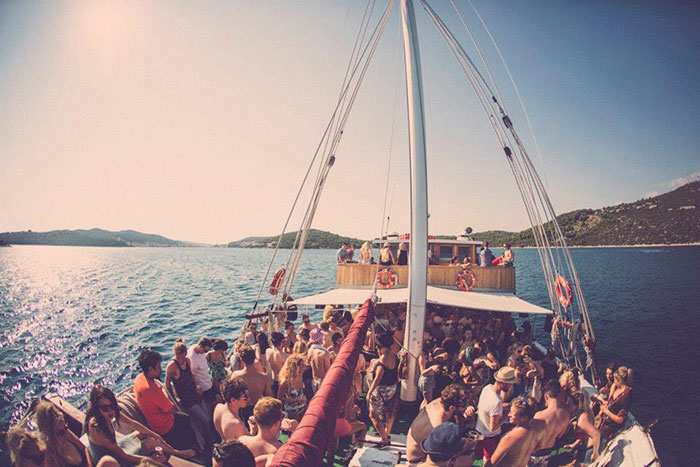Image of boat party at Soundwave in Croatia