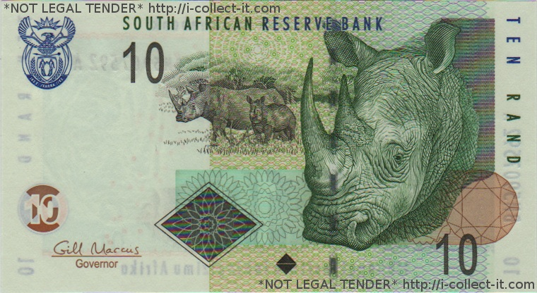 10 South African Rand bill