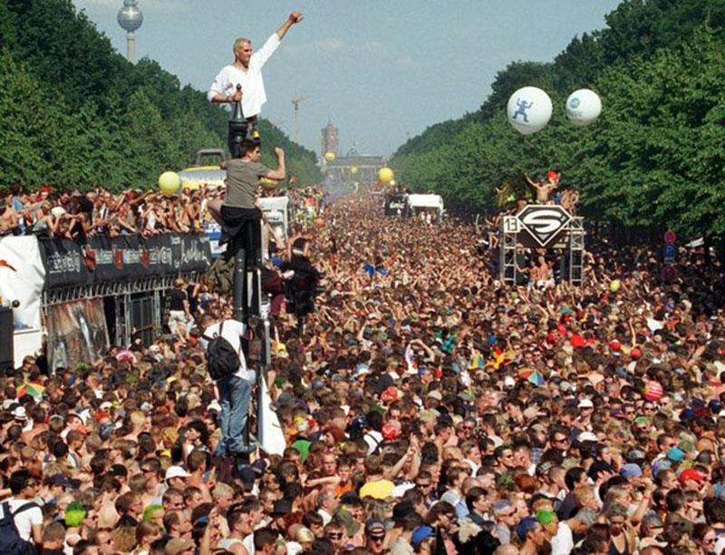 Image of party in Germany after the fall of the wall