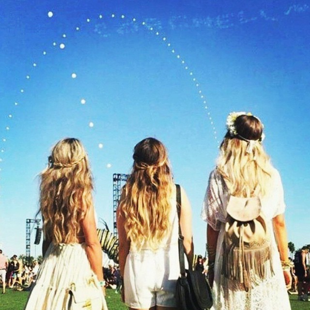 image of three girls at a music festival