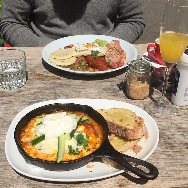 food in amsterdam - baked eggs from Little Collins cafe