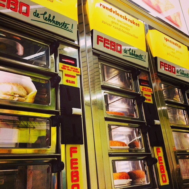 food in amsterdam - image of FEBO machines
