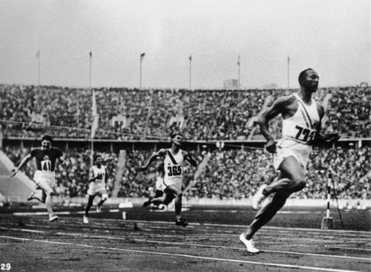 Jesse Owens in the 1928 olympics