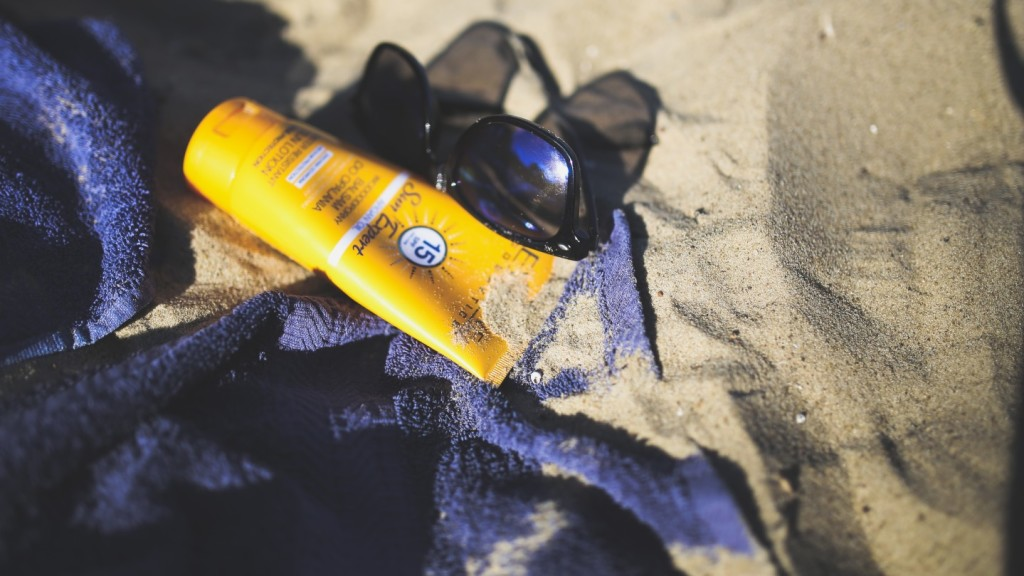 Towel and sunscreen