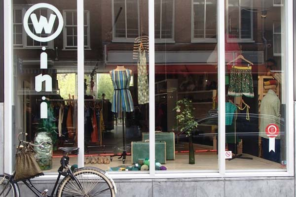 vintage stores in amsterdam - wini vintage shop front