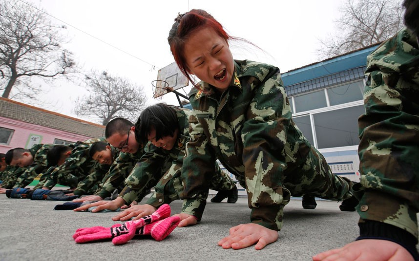 Image of bootcamp in china for internet addiction