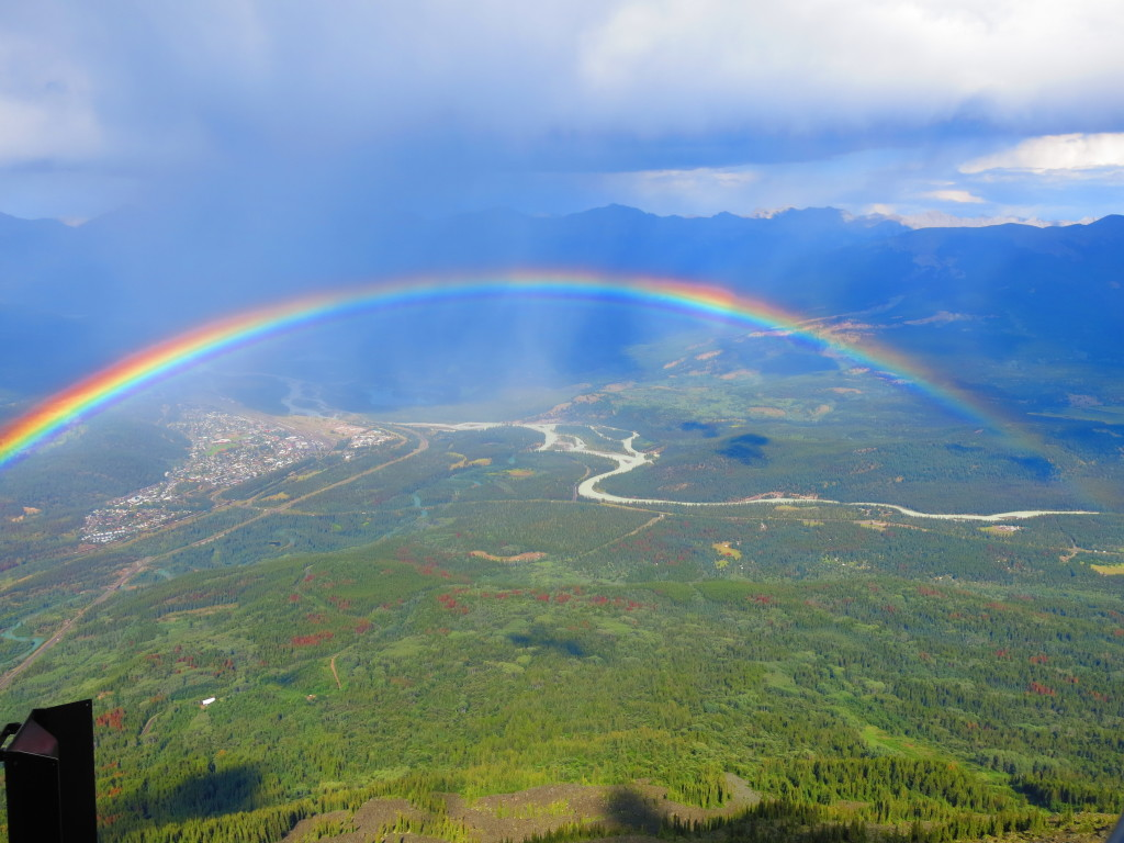 Canada and the rockies - Double rainbow at Jasper