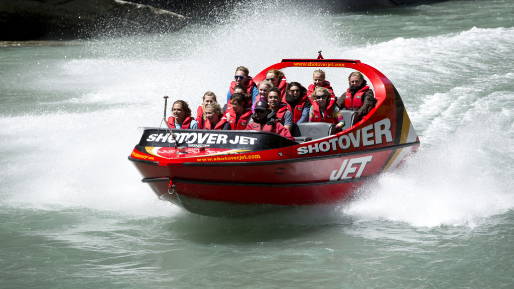adventure travel - image of the shotover jet