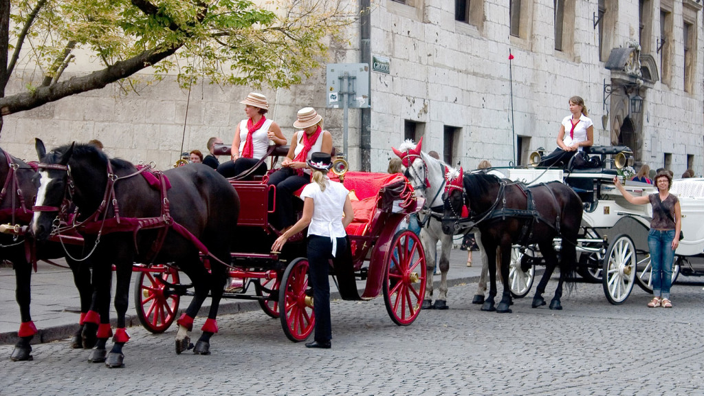 Krakow horse drawn carriages