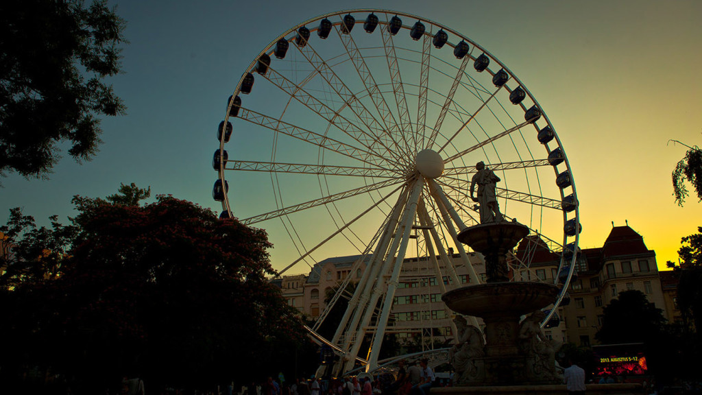 things to do in budapest - image of the budapest eye