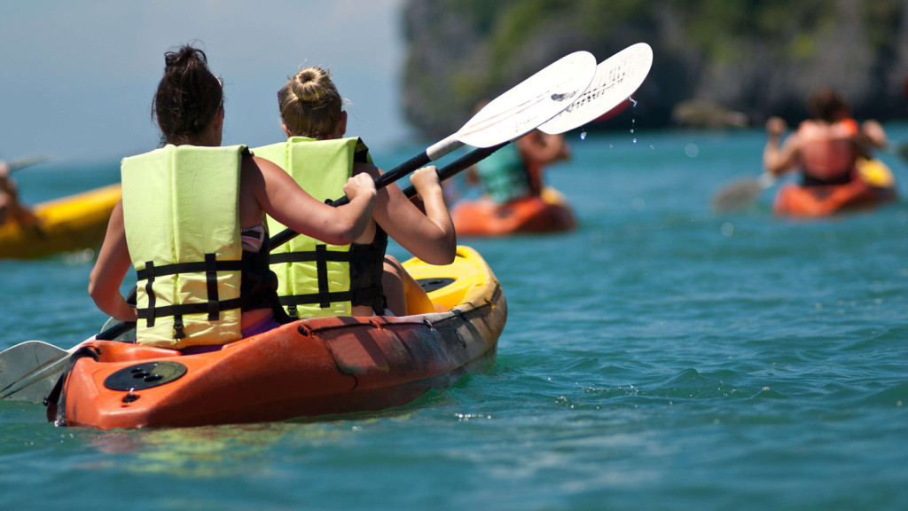 things to do in dubrovnik - image of two girls sea kayaking