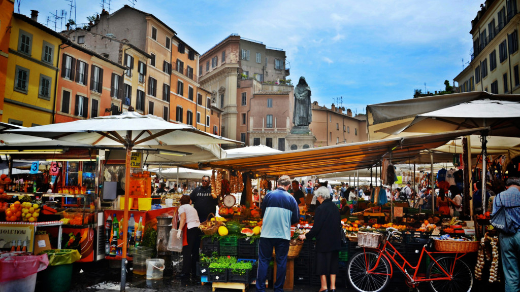 things to do in rome - image of the Campo De' Fiori