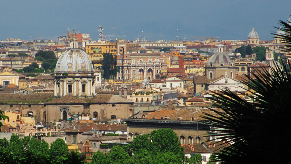 things to do in rome - image of the view from the Janiculum hill