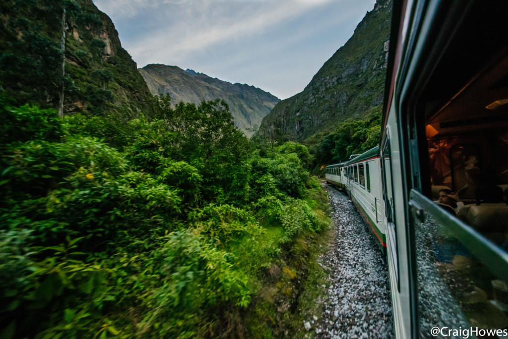 Train ride in Peru - Craig Howes on Contiki