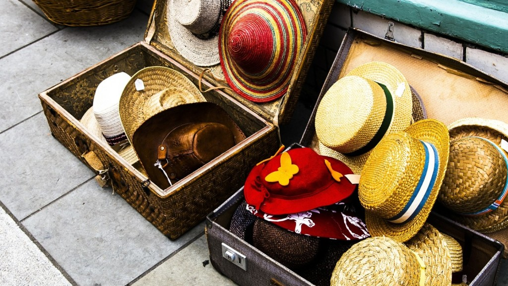 Hats in bags packing