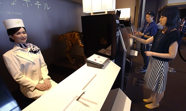 robot hotel - robot check-in