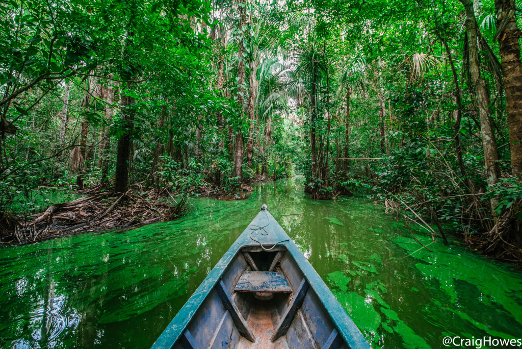 Image of boat in Amazon river - Craig Howes