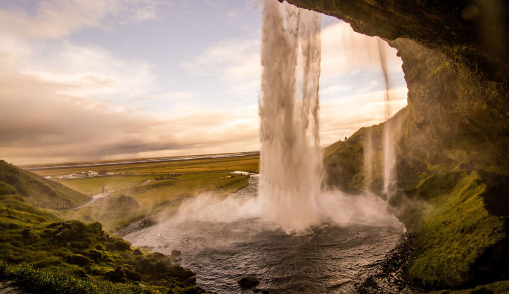 Blue Monday - image of waterfall in Iceland