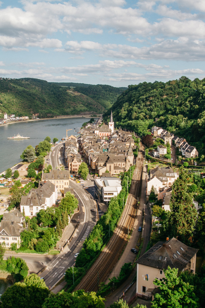 travel photography - town of st goar in germany