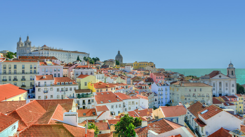romantic travel destinations - image of the rooftops of lisbon