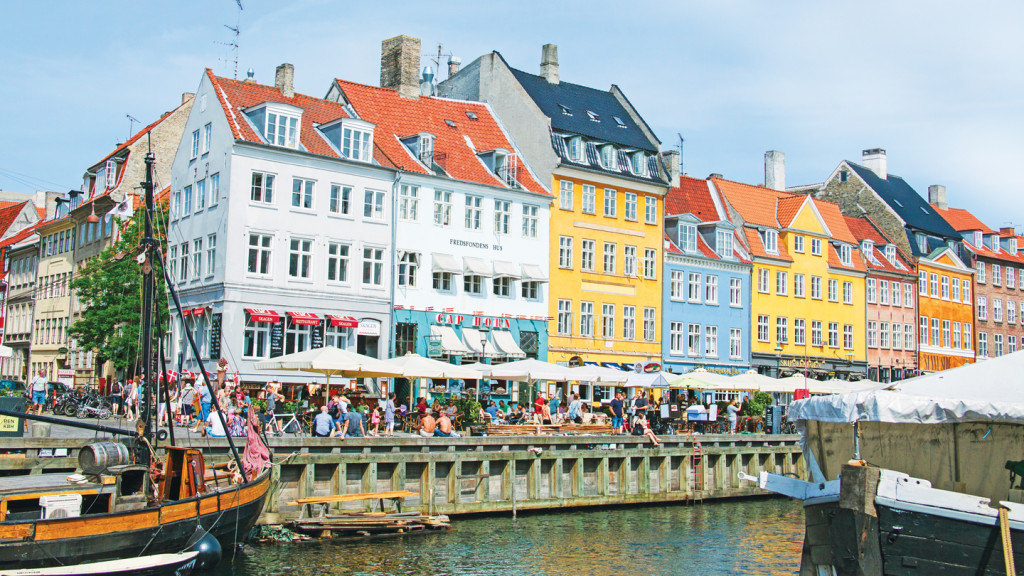 romantic travel destinations - image of colourful houses in copenhagen
