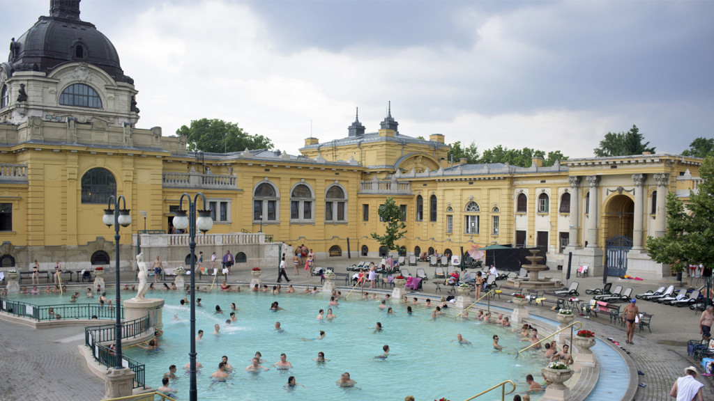 trip to europe - baths in budapest