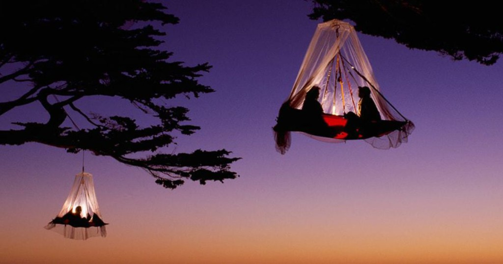 Camping in a tree in Germany