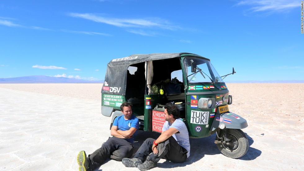 Nick Gough and Richard Sears in the Salt Flats, Argentina