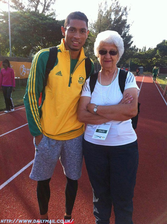 Anna Botha and Wayde van Niekerk