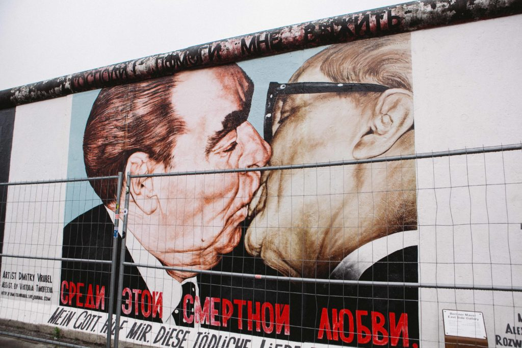"""""""My God, Help Me to Survive This Deadly Love"""" mural on the Berlin Wall"""