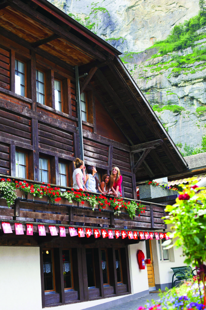 ... is right in the heart of the Swiss Alps. Truly, it is the real deal,  and you need it in your life, stat. Will it steal your heart? Oh you betcha.