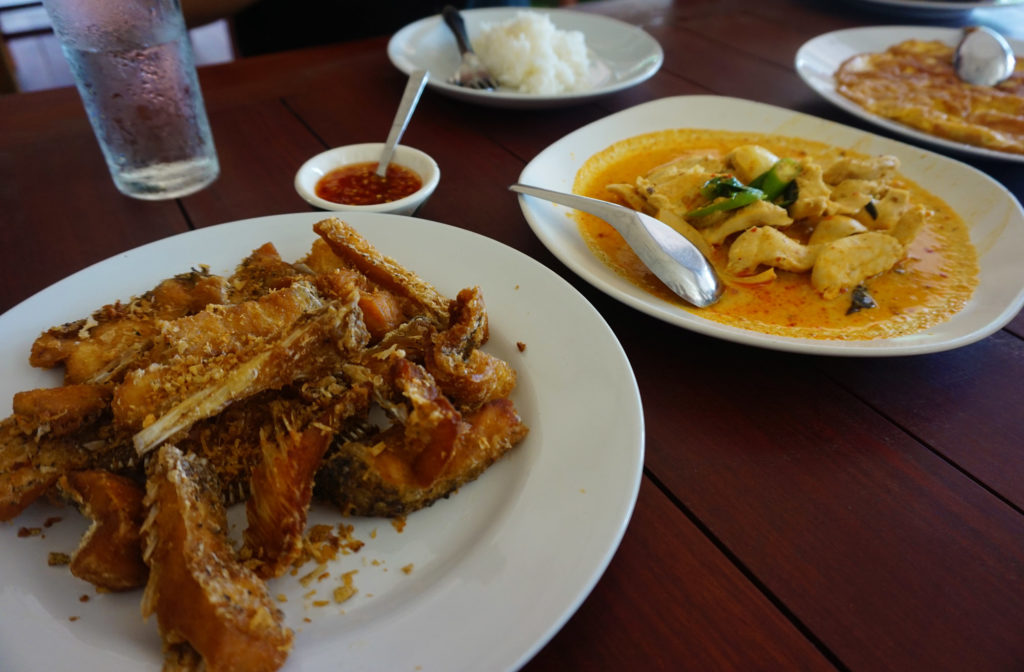 Local food in Khao Sok, Thailand