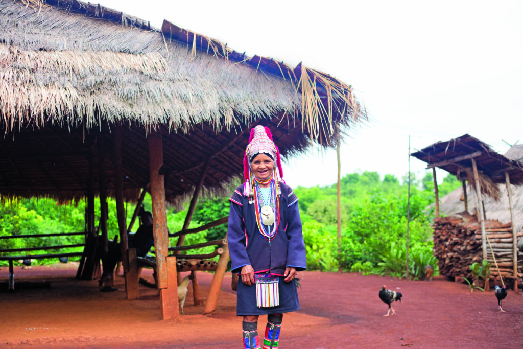 hill tribe lady in thailand