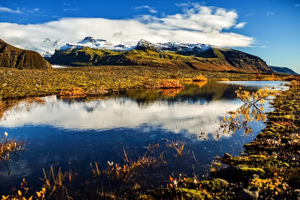 mountains and lake in Iceland